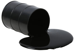 Oil Barrel and spillage