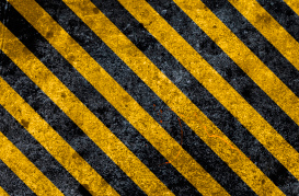 Boundary Warning Striped Colours